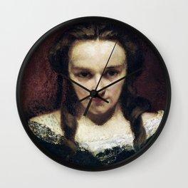 Gustave Courbet - The Clairvoyant - The Somnambulist - The Sleepwalker - La voyante - La Somnambule Wall Clock