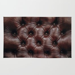 Corner Office: Tufted Luxurious Executive Chocolate Leather Photograph Rug