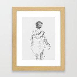 Parker Girl Framed Art Print