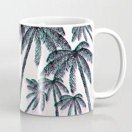 Tropical Palm Trees in Pink Teal Black Coffee Mug