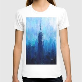Empire State Building - New York City - Cityscape Wall Art, Poster, Impressionism Paintings, Prints T-shirt