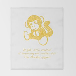 Monkey Throw Blanket