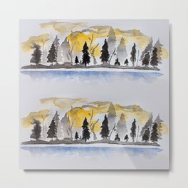 Chase Me Through The Forest Metal Print