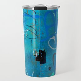Urban Blue Style Street Graffiti Travel Mug