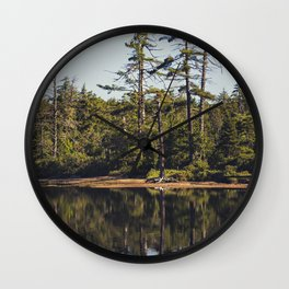 trees and reflections Wall Clock
