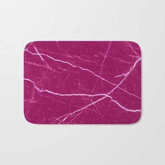 Magenta marble abstract texture pattern Bath Mat