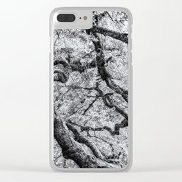 Falling into Spring bw Clear iPhone Case
