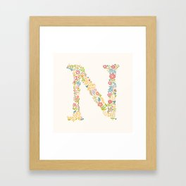 Alphabet N Framed Art Print