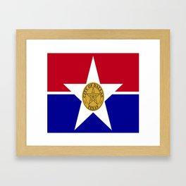 American cities-  Flag of Dallas. Framed Art Print