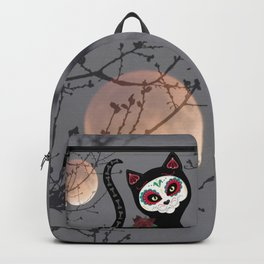 Sugar Skull Black Cat Backpack