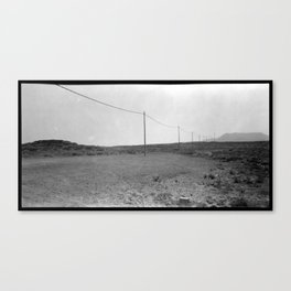 A line in the Desert Canvas Print