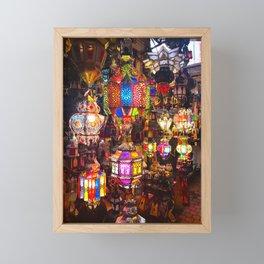 Lamps in the Souk, Fez Morocco, Africa Framed Mini Art Print
