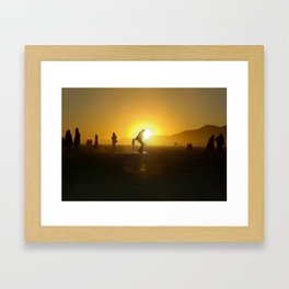 BM Silhouette Framed Art Print