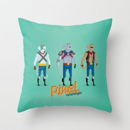 Biker Mice from Mars - Pixel Nostalgia Throw Pillow
