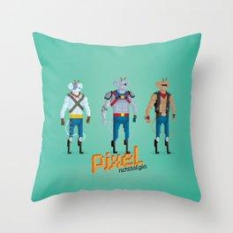 Biker Mice from Mars - Pixel Nostalgia Throw Pillow