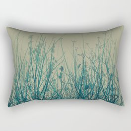 Blue Dogwood Rectangular Pillow