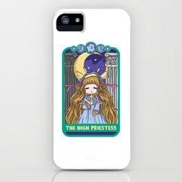 The High Priestess - Cute Kawaii Anime Tarot Shirt iPhone Case