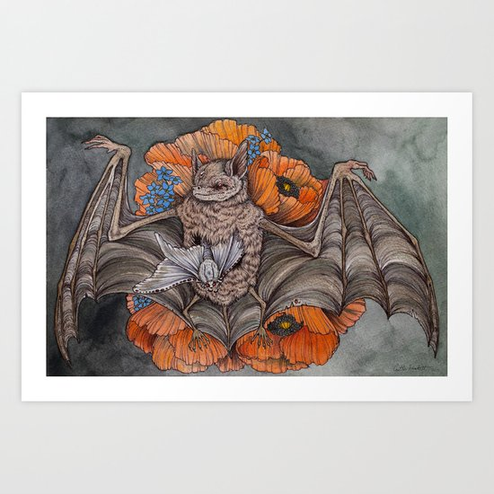 Chiroptera  Art Print
