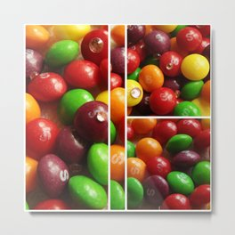Skittles and Crystals Metal Print
