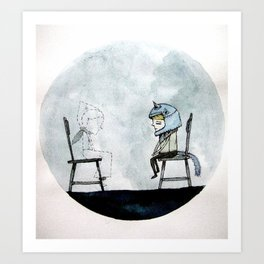 disappear Art Print