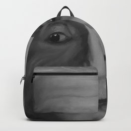 Albert Einstein, Original painting by Lu, black-and-white Backpack