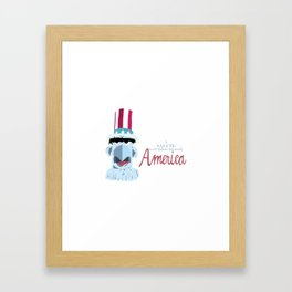 A Salute to All Nations, but Mostly America Framed Art Print
