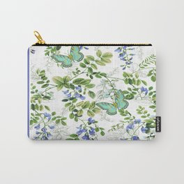 blue wisteria w butterflies Carry-All Pouch