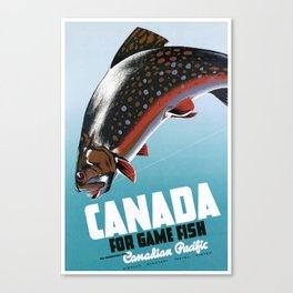 1942 Canadian Pacific Canada Travel Poster Canvas Print