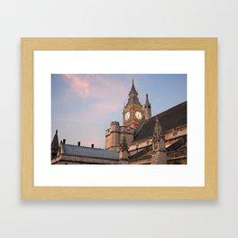 Big Ben over London Framed Art Print