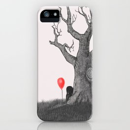 Girl with a Red Balloon iPhone Case