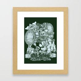 Old School Never Dies Framed Art Print