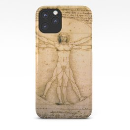 Vitruvian Man by Leonardo da Vinci iPhone Case
