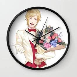Prompto White Suit Wall Clock