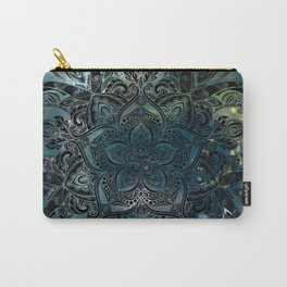 Flower mandala -night Carry-All Pouch