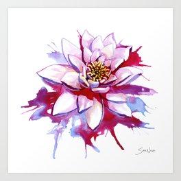 Bleeding Lotus Art Print