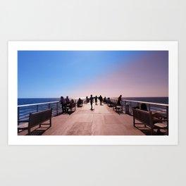 Pantone Pier Art Print