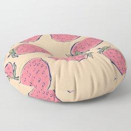 Strawberry Summer Floor Pillow