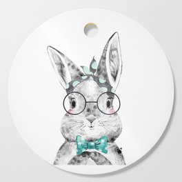 Bunny with Scarf and Bowtie Cutting Board