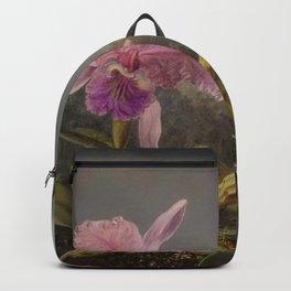 Cattelya Orchid And Three Brazilian Hummingbirds 1 By Martin Johnson Heade   Reproduction Backpack
