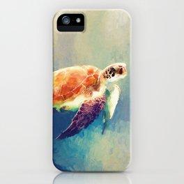 Sea Turtle Painting iPhone Case