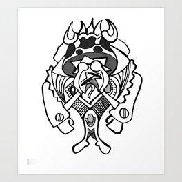 Mushroom Solider  Art Print