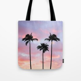 Palm Trees Sunset Photography Tote Bag
