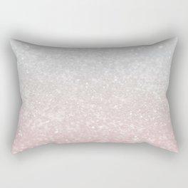 Blush Gray Princess Glitter #1 (Faux Glitter - Photography) #shiny #decor #art #society6 Rectangular Pillow