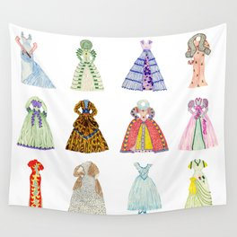 Doll Dresses Wall Tapestry
