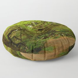 The Opulence Of The Rainforest Floor Pillow