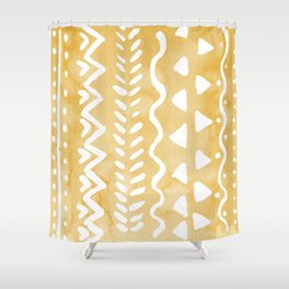 Loose bohemian pattern - yellow Shower Curtain