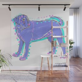 The happy LABRADOR RETRIEVER Love of My Life - your Lab dog keeps you smiling! Wall Mural