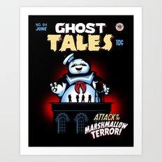 Marshmallow Terror Art Print