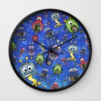 Little Robots  Wall Clock