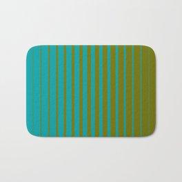 gradient stripes aqua olive Bath Mat